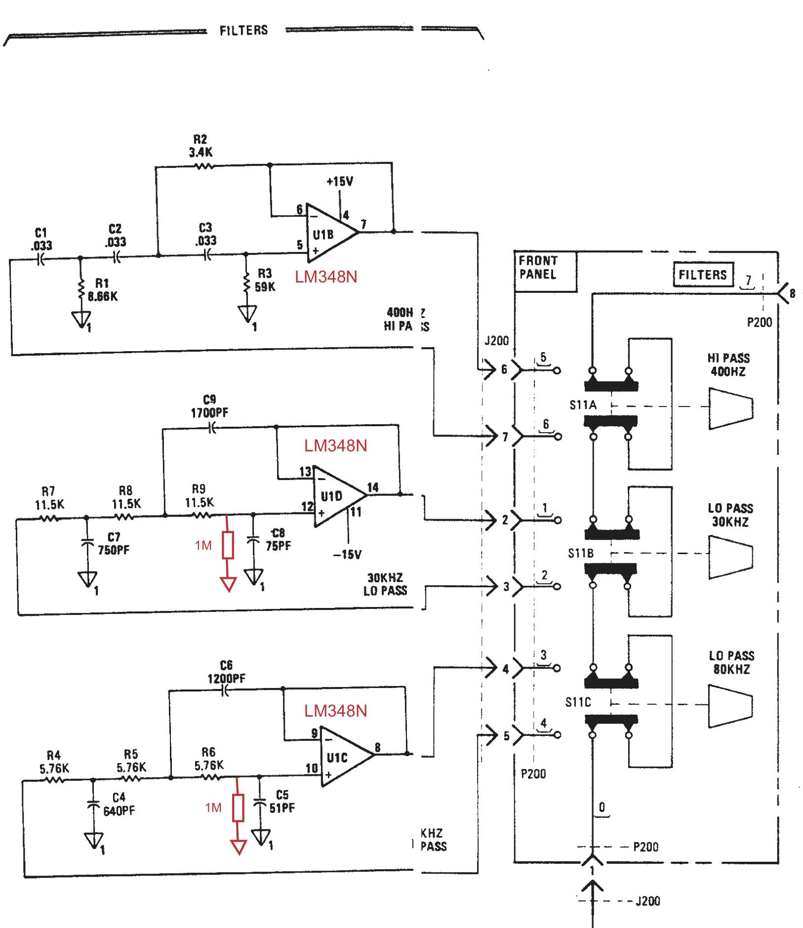 HP339A filter mod